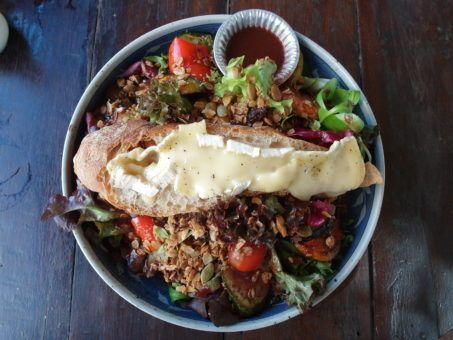 Warm Brie Salad from Rustic and Blue restaurant in Chiang Mai