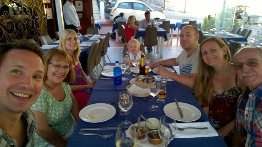 Family dinner in Spain