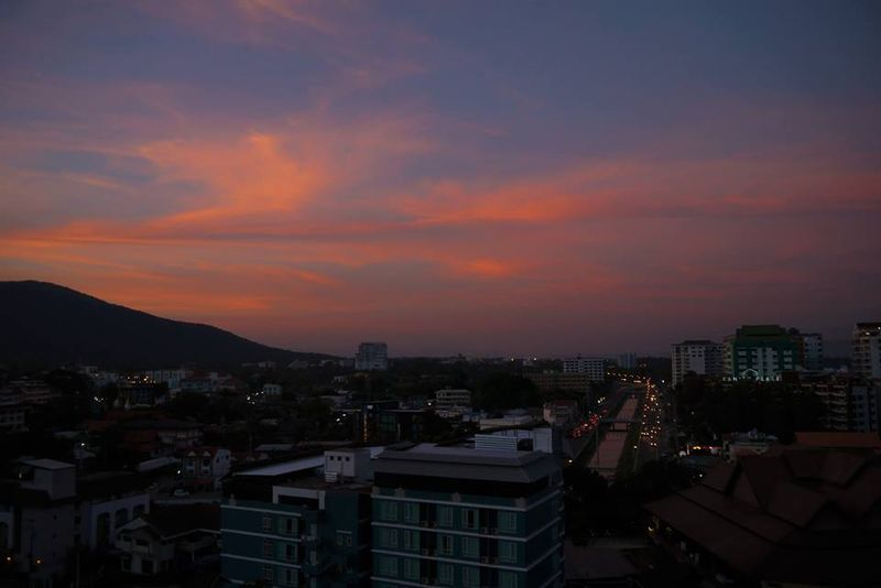Sunset view from 'my home office' in Chiang Mai