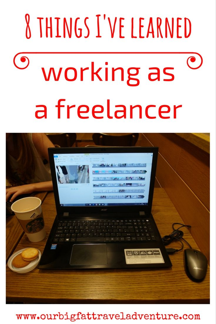 8 things I've learned working as a freelancer, :Pinterest Pin