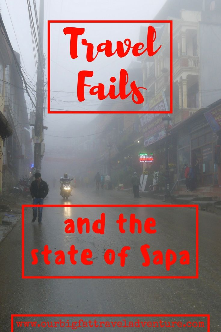 Travel fails and the state of Sapa Pinterest poster