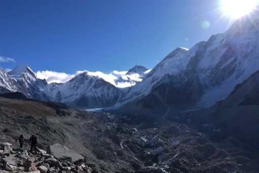 The Himalayas, with Everest in the centre