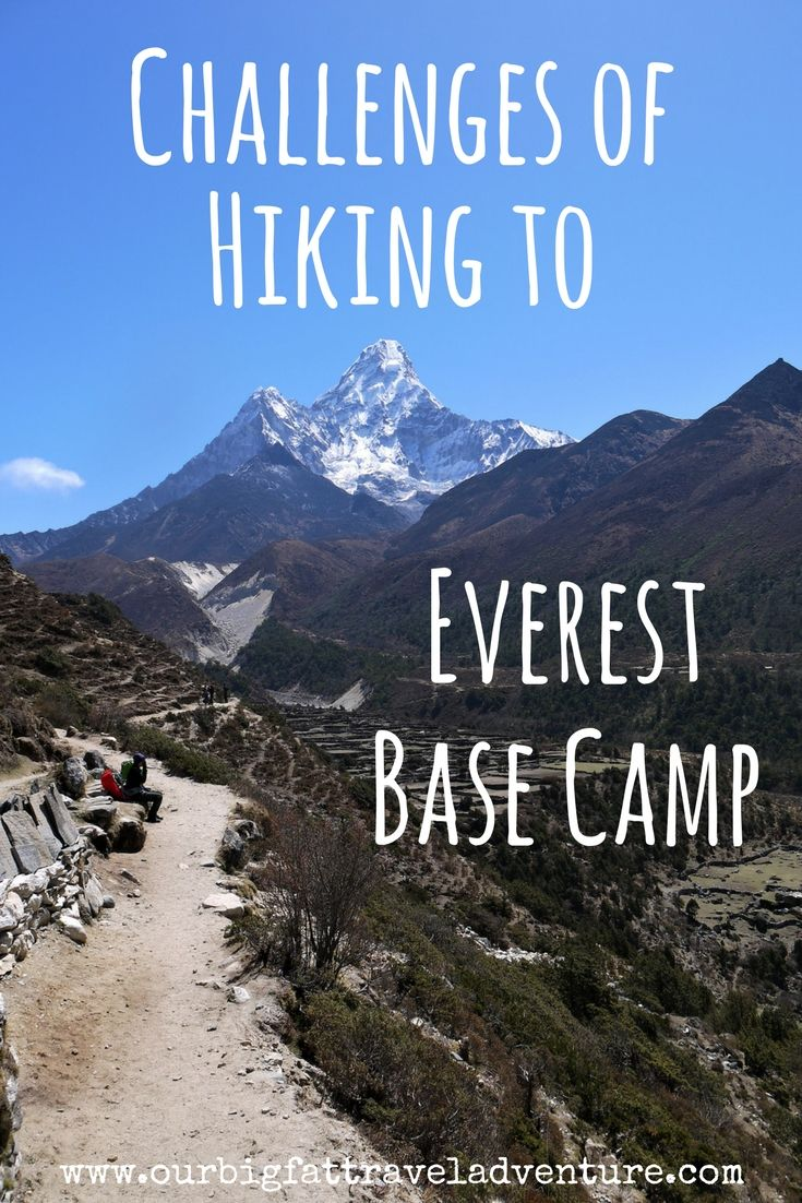 the challenges of hiking to Everest Base Camp Pinterest Pin