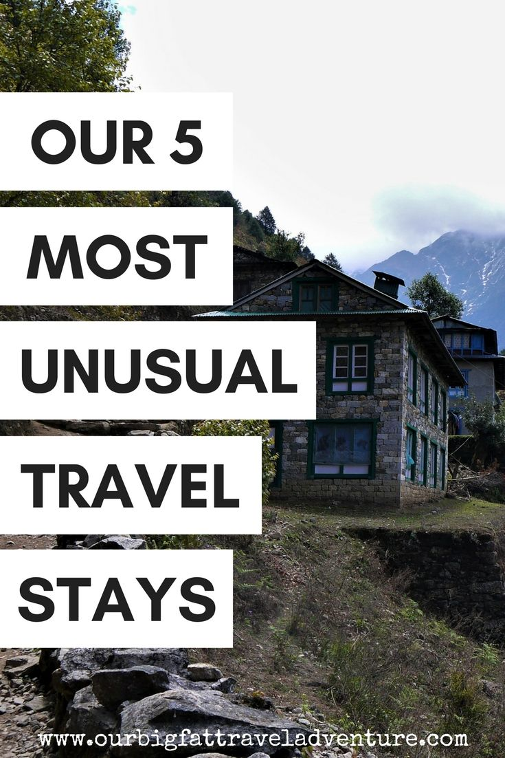 From freezing cold Everest tea houses to Iban longhouses and lavish London pig sits, here are five of our most unusual travel stays to date.