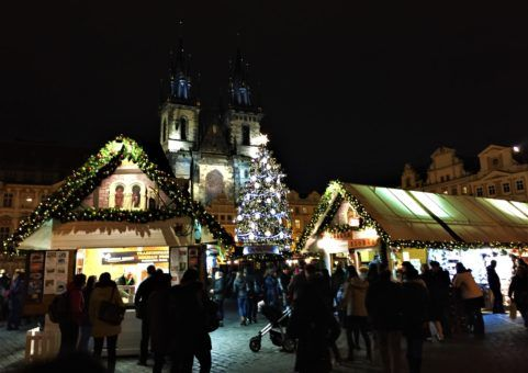 Church of Our Lady Before Tyn at Christmas in Prague