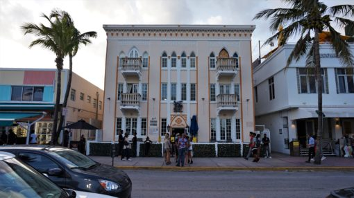 One of many Art-Deco buildings on Ocean Drive, Miami