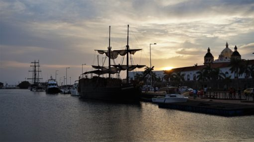 The harbour in Cartagena, Colombia