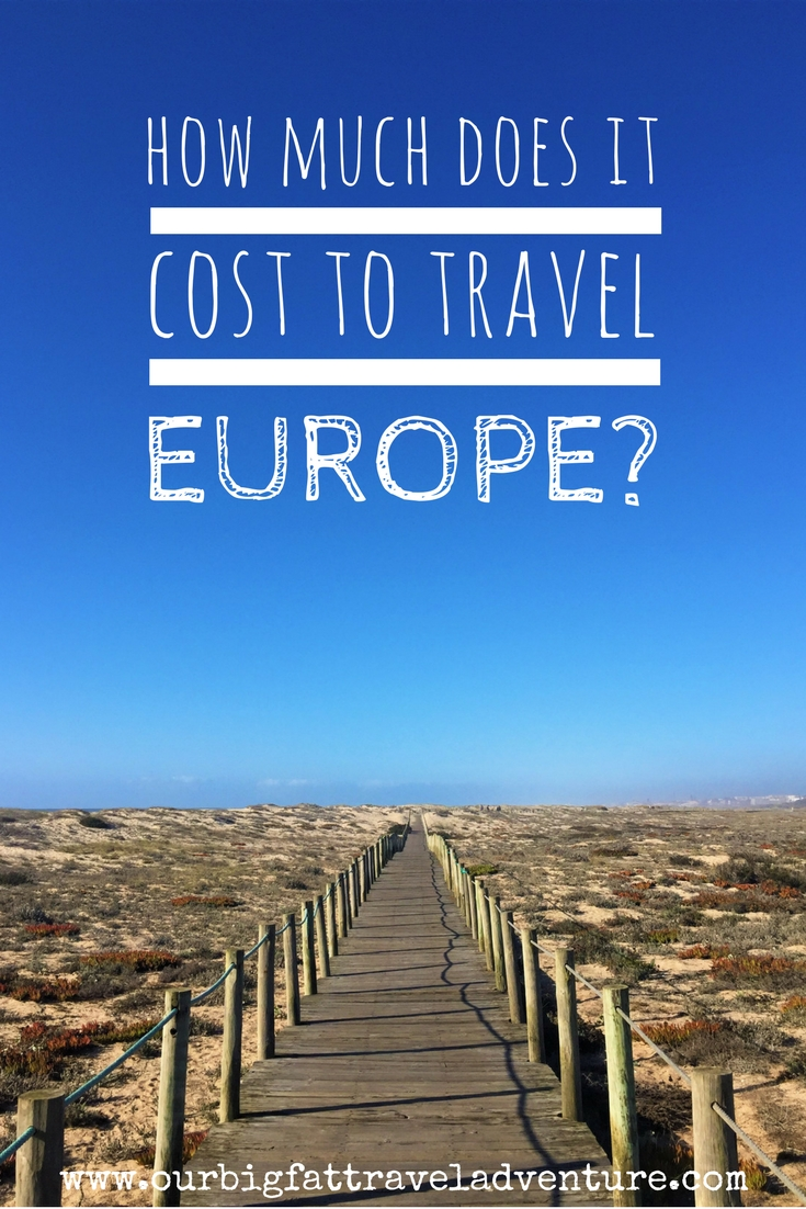 how much does it cost to travel europe Pinterest pin