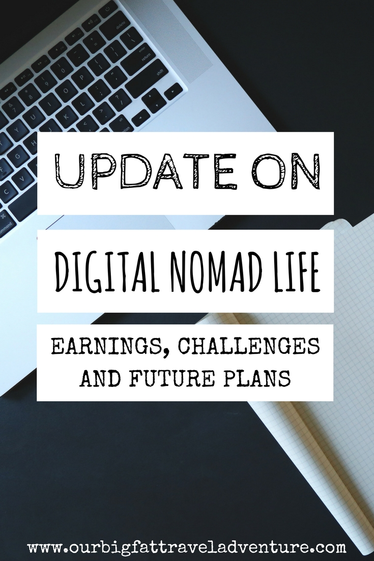 update on digital nomad life, pinterest pin