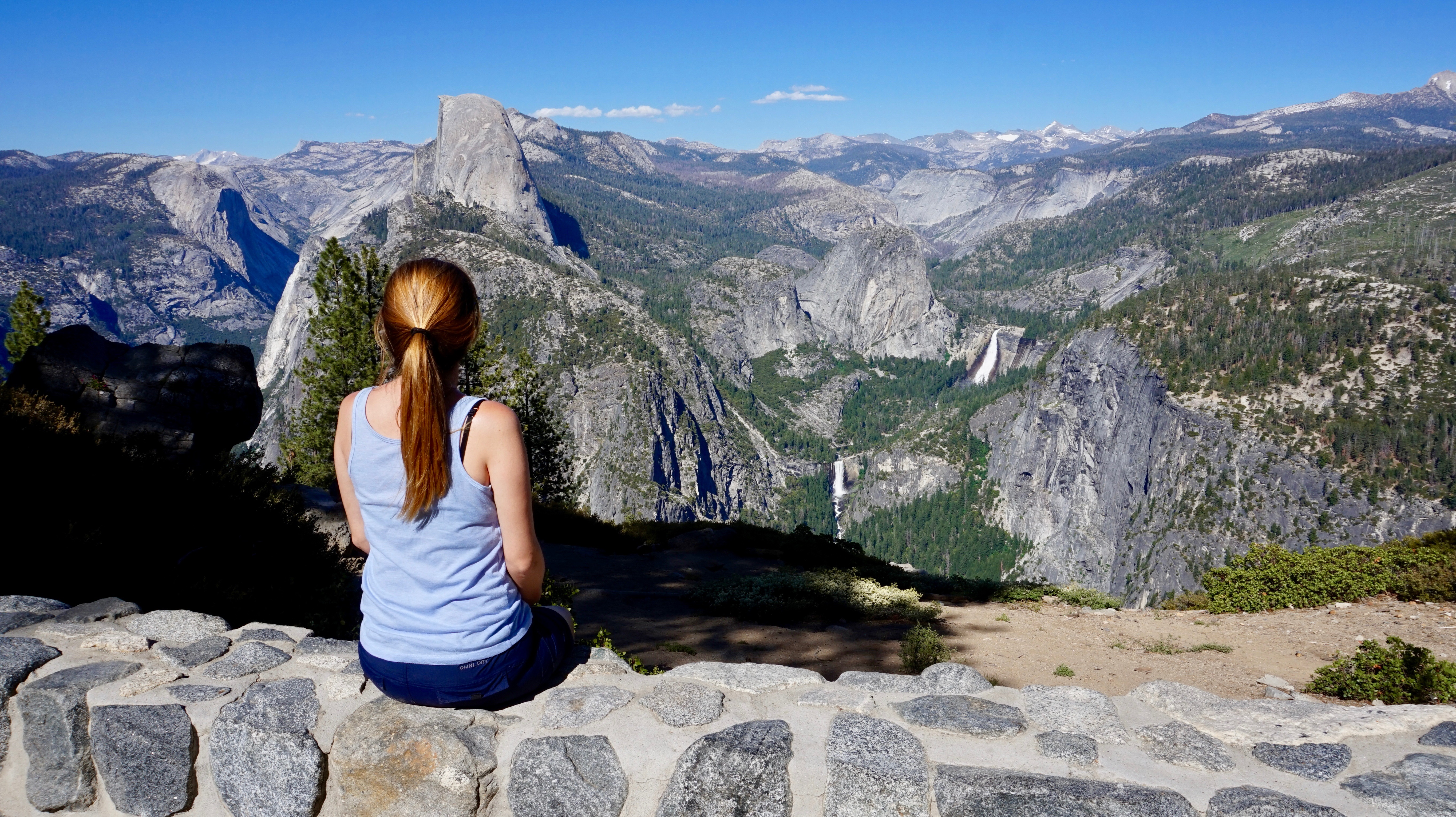 Me taking in the view from Glacier Point in Yosemite National Park