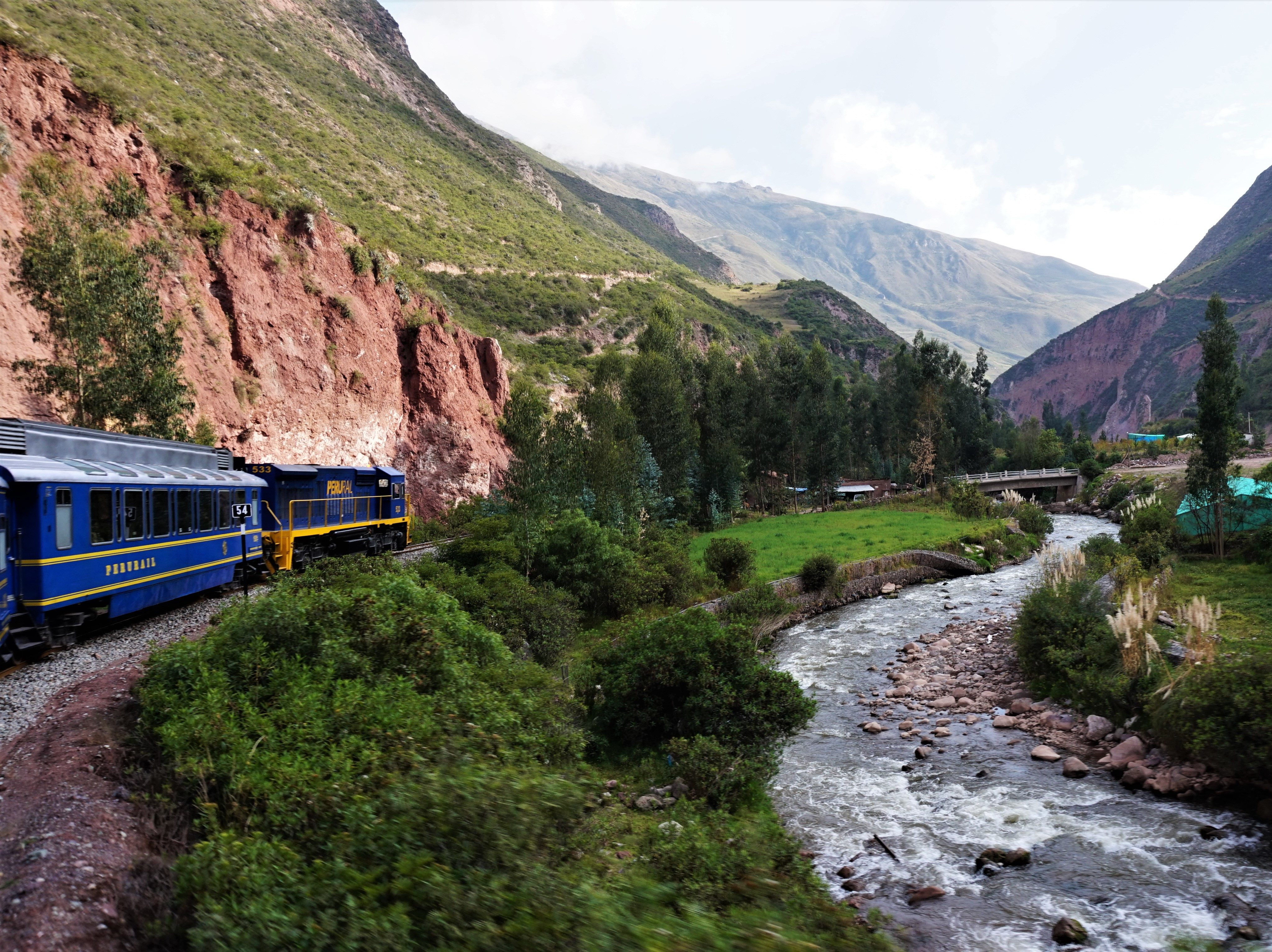 The Peru Rail train in the Sacred Valley