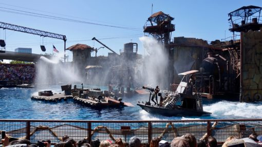 The Waterworld show at Universal Studios Hollywood