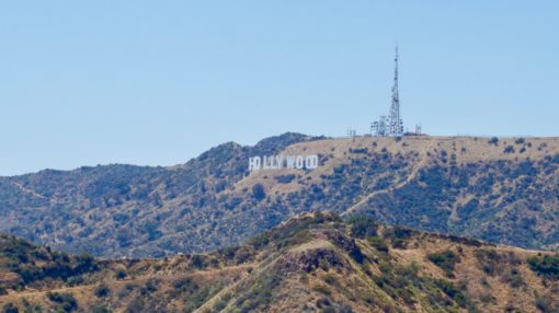 The Hollywood Sign from Griffith Observatory in LA