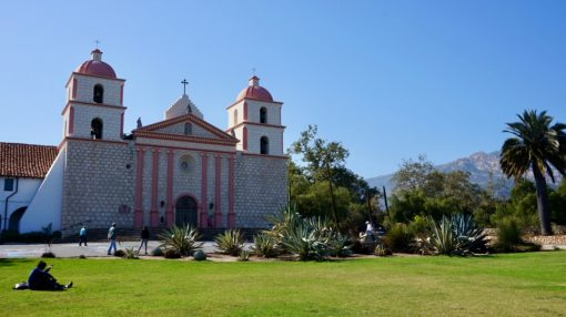 The Old Mission, Santa Barbara, California USA