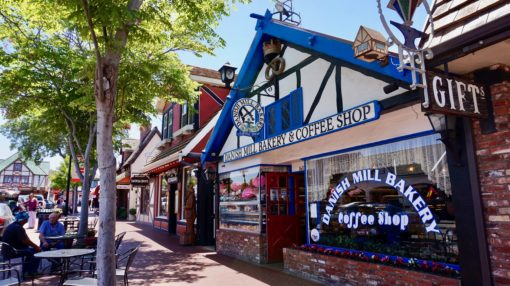 Danish bakery and shops in Solvang, California