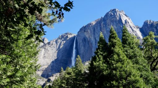 Yosemite Falls on a summer trip to the park in California