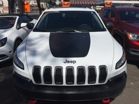 Our Jeep Cherokee, which we used on our road trip in California