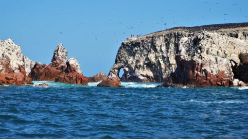 The 'Elephant' rock formation at the Ballestas Islands, Peru