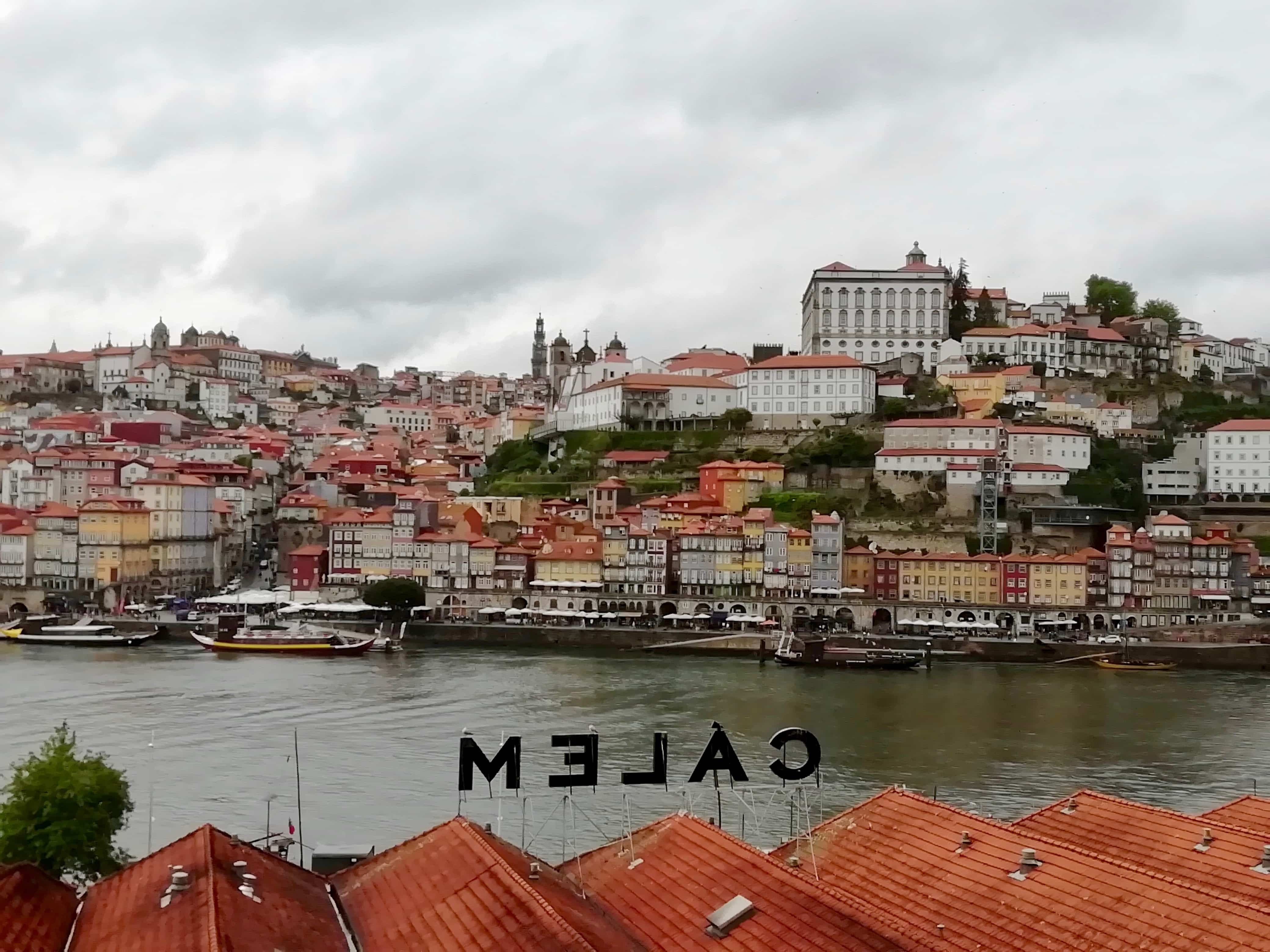 View of the Ribeira in Porto, Portugal
