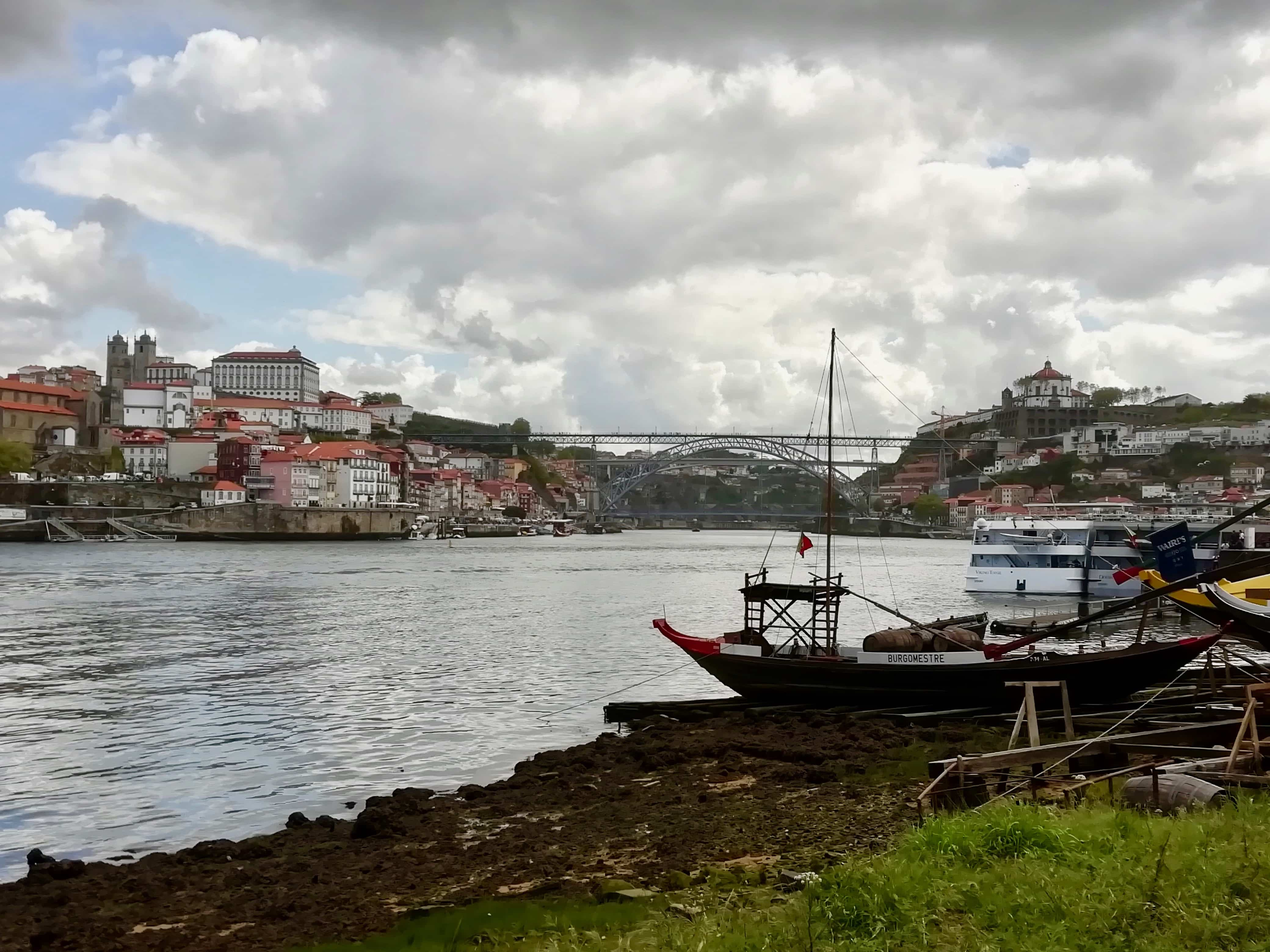 View of Porto from the river, Portugal