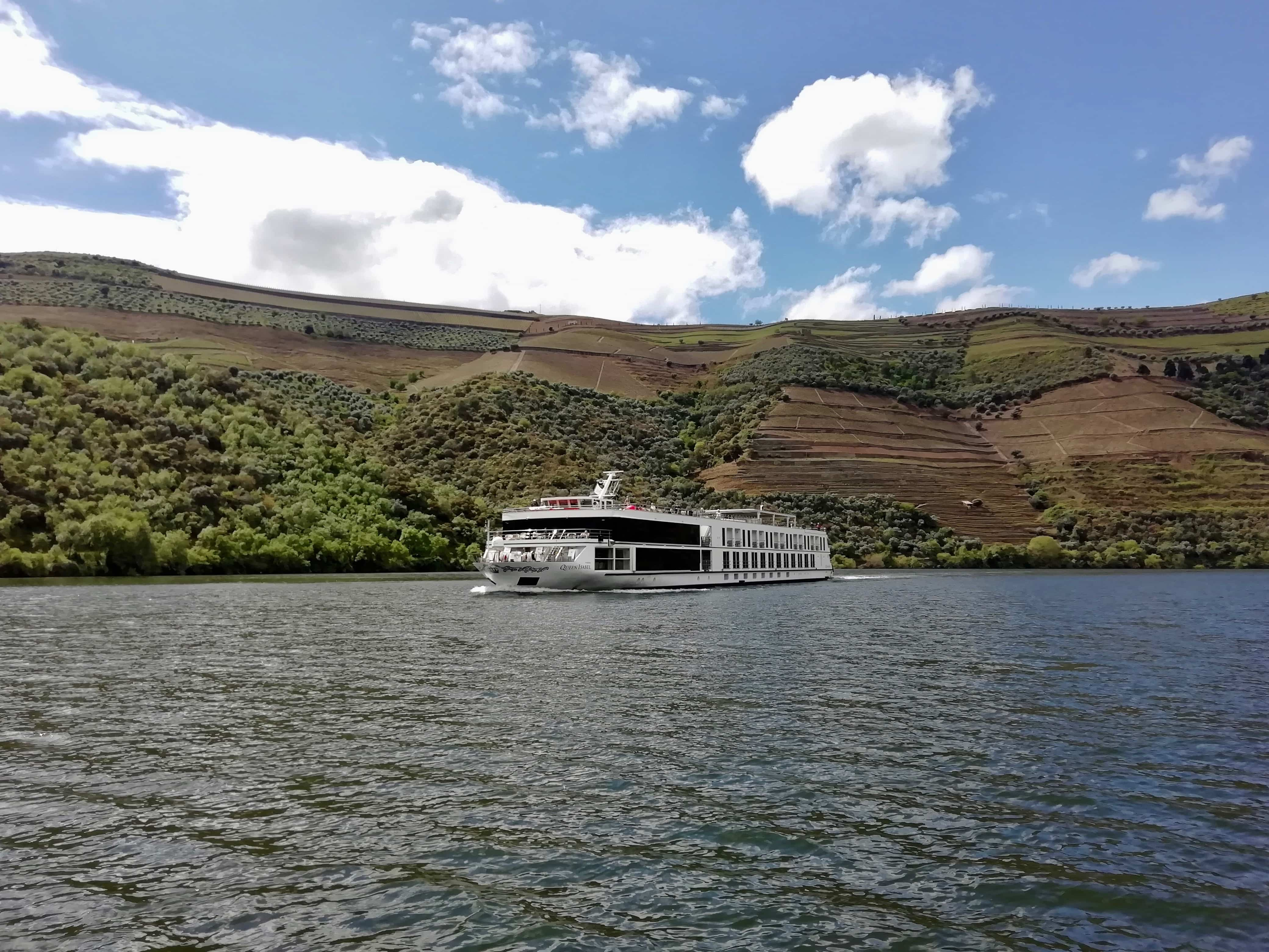 A cruise ship on a Douro Valley River cruise, Portugal