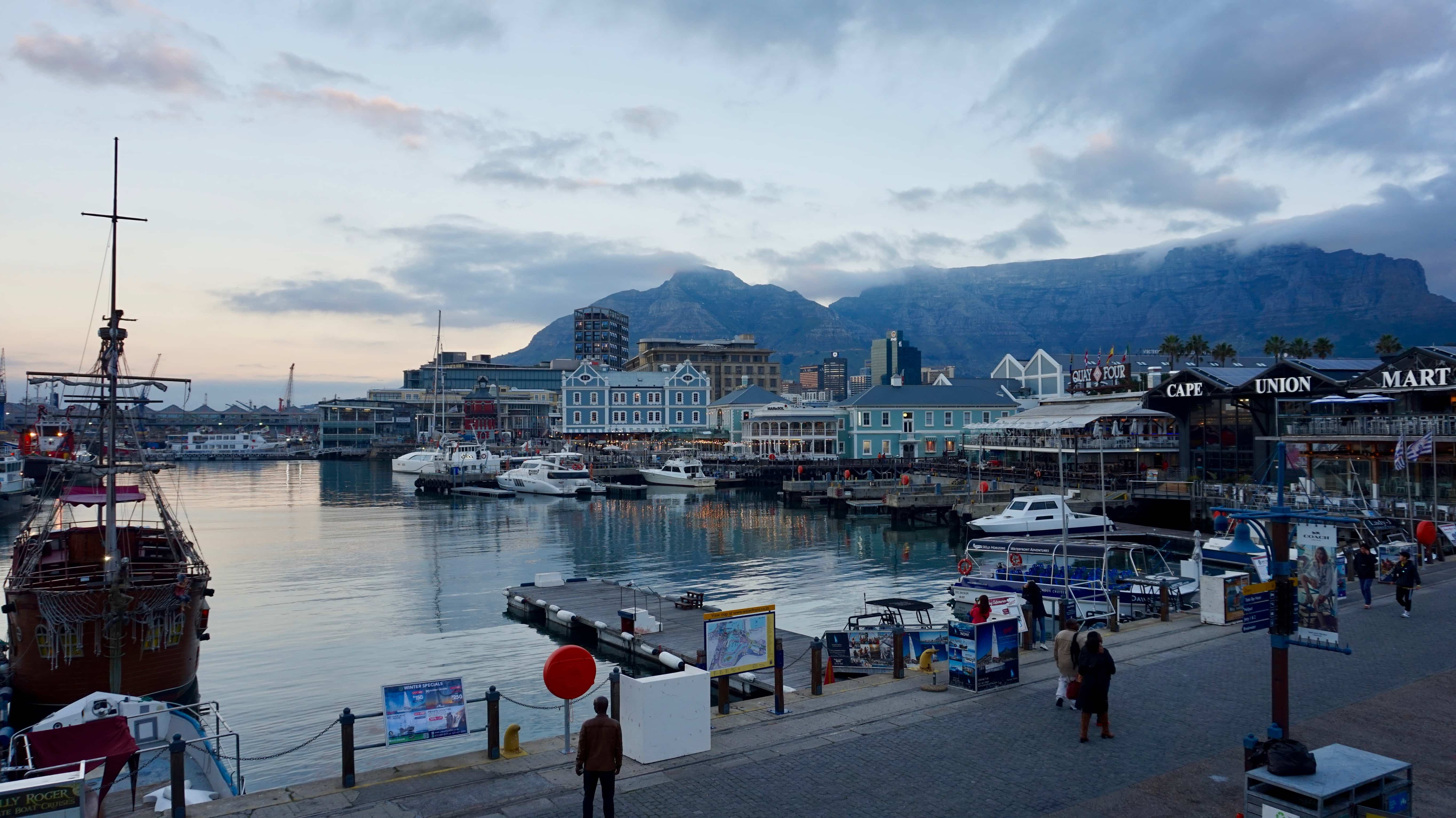 The Victoria and Alfred waterfront in Cape Town