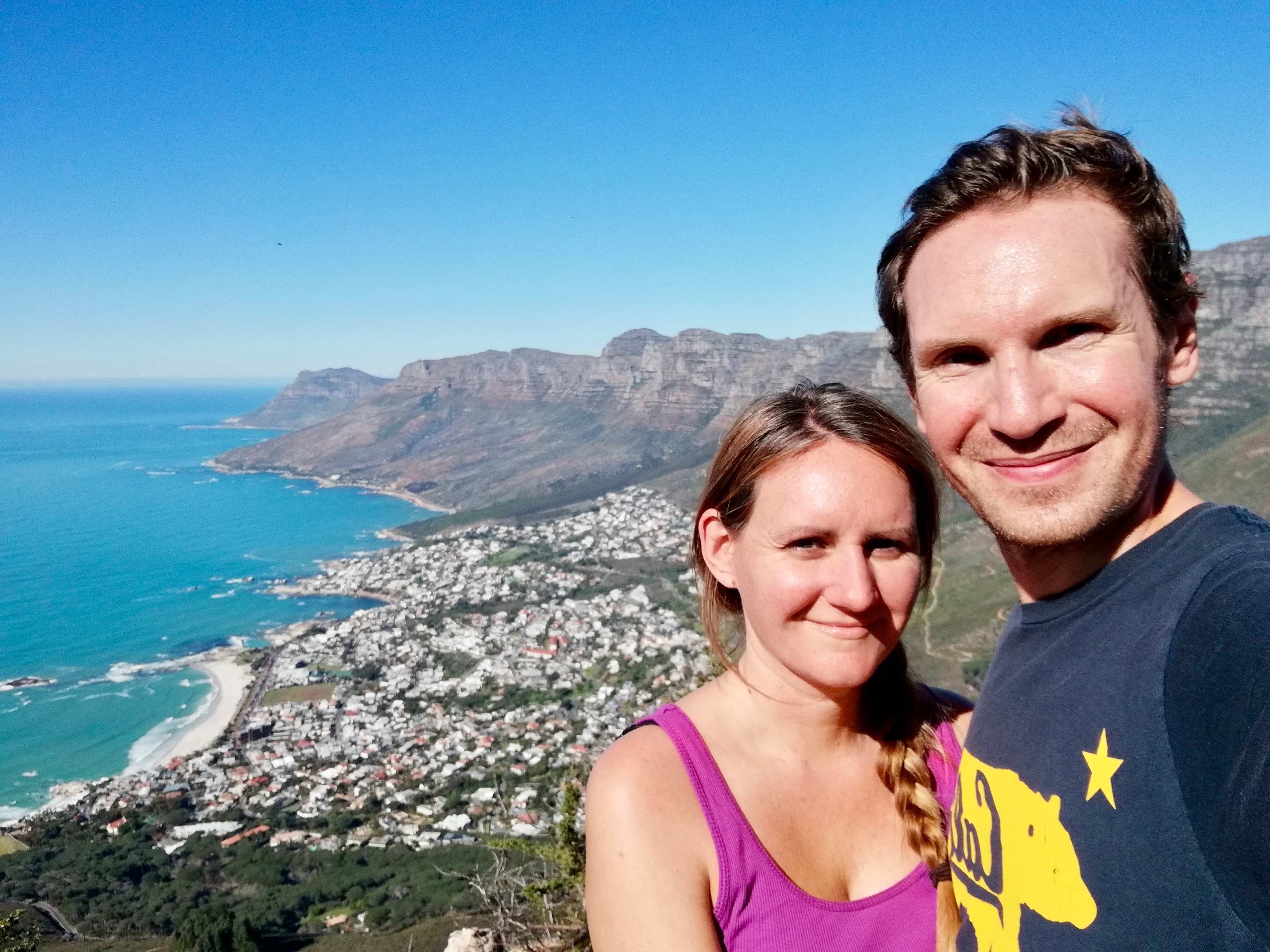 Us hiking Lion's Head in Cape Town