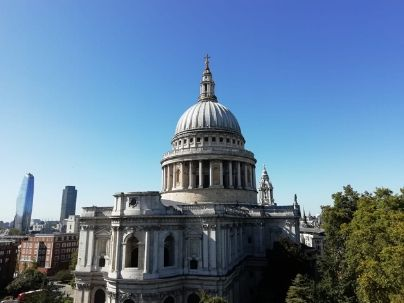 St Paul's Cathedral from One New Change Shopping Centre, London