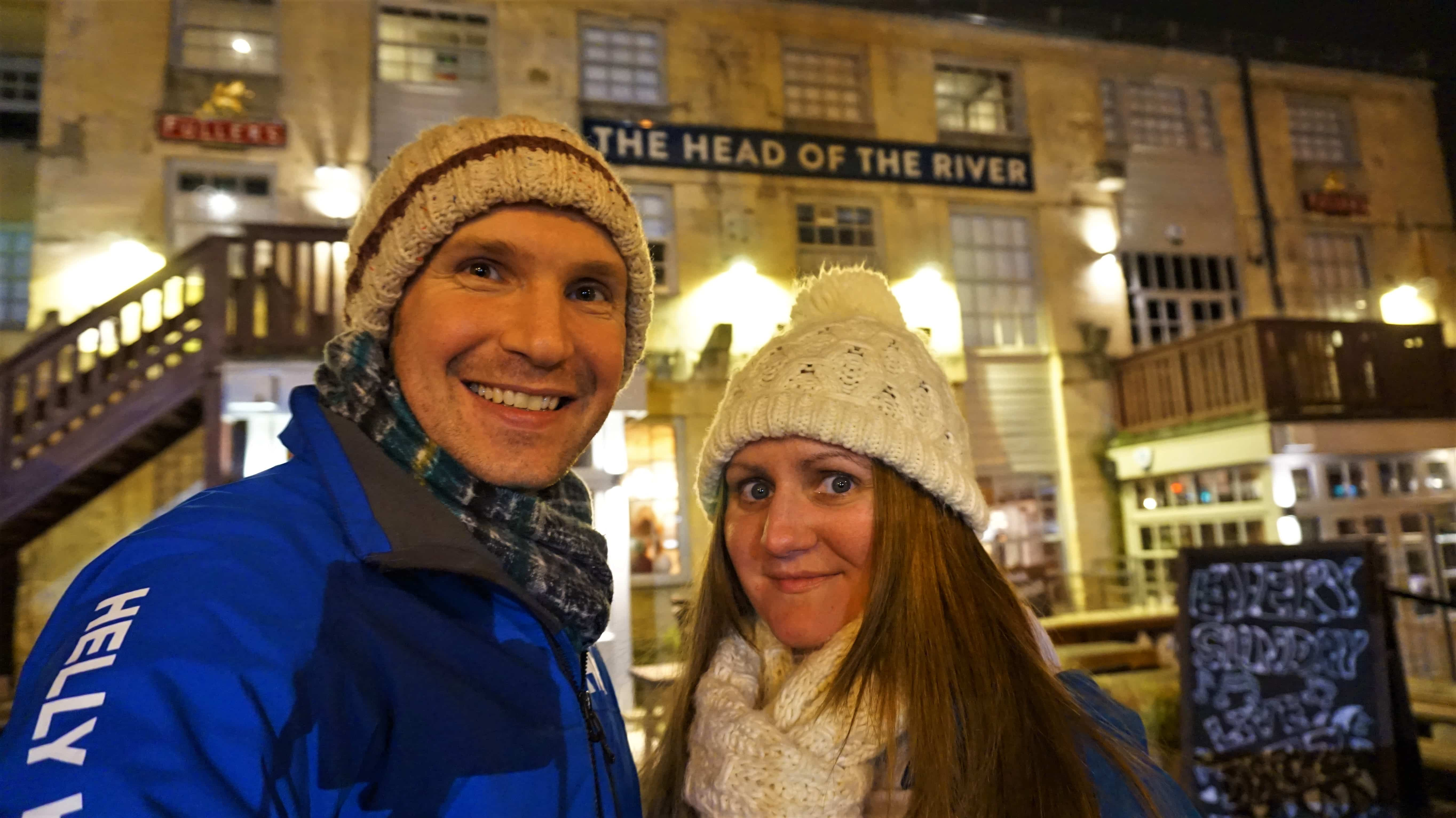 Selfie outside the Head of the River in Oxford