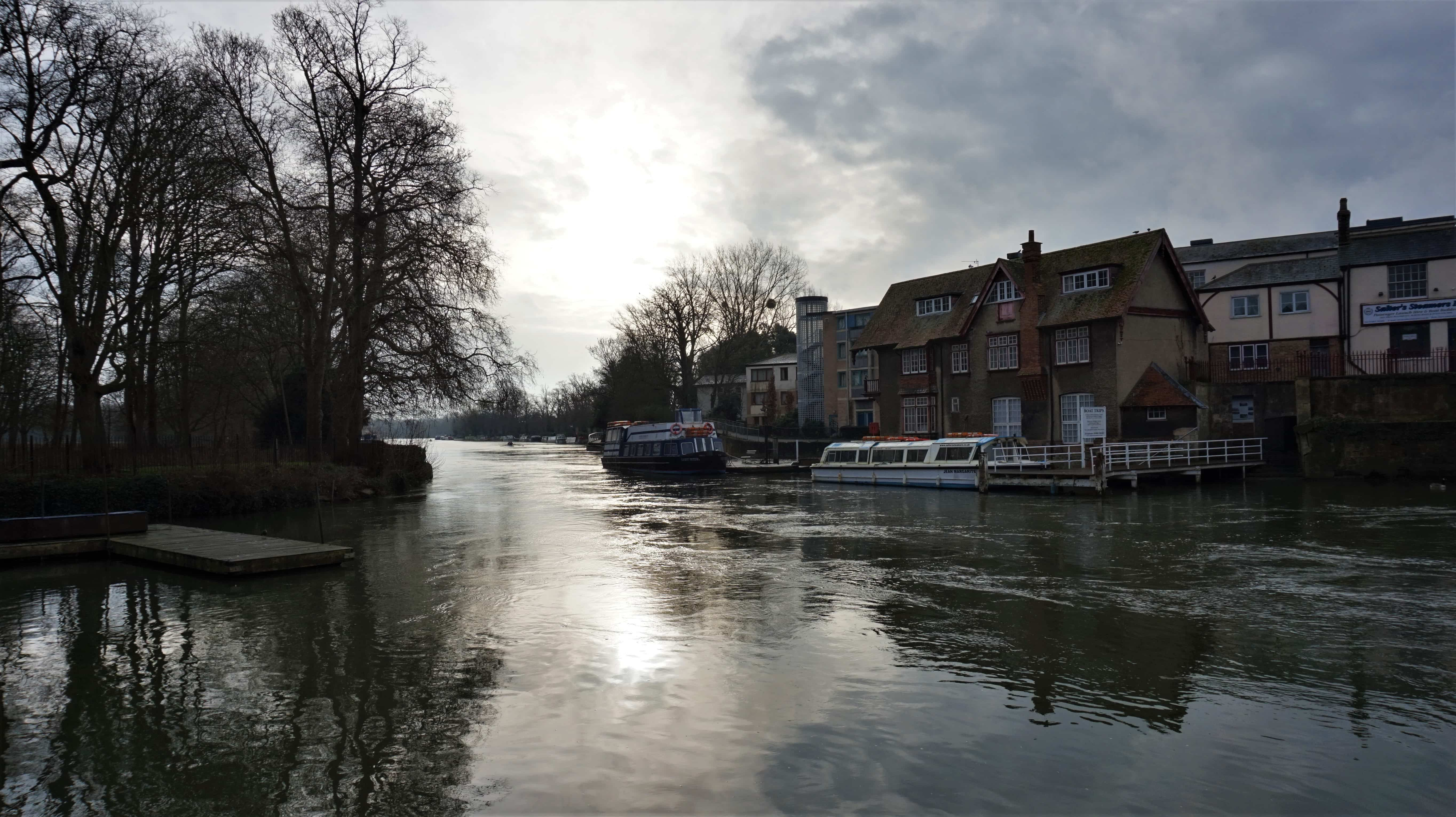 View of the Thames from The Head of the River in Oxford