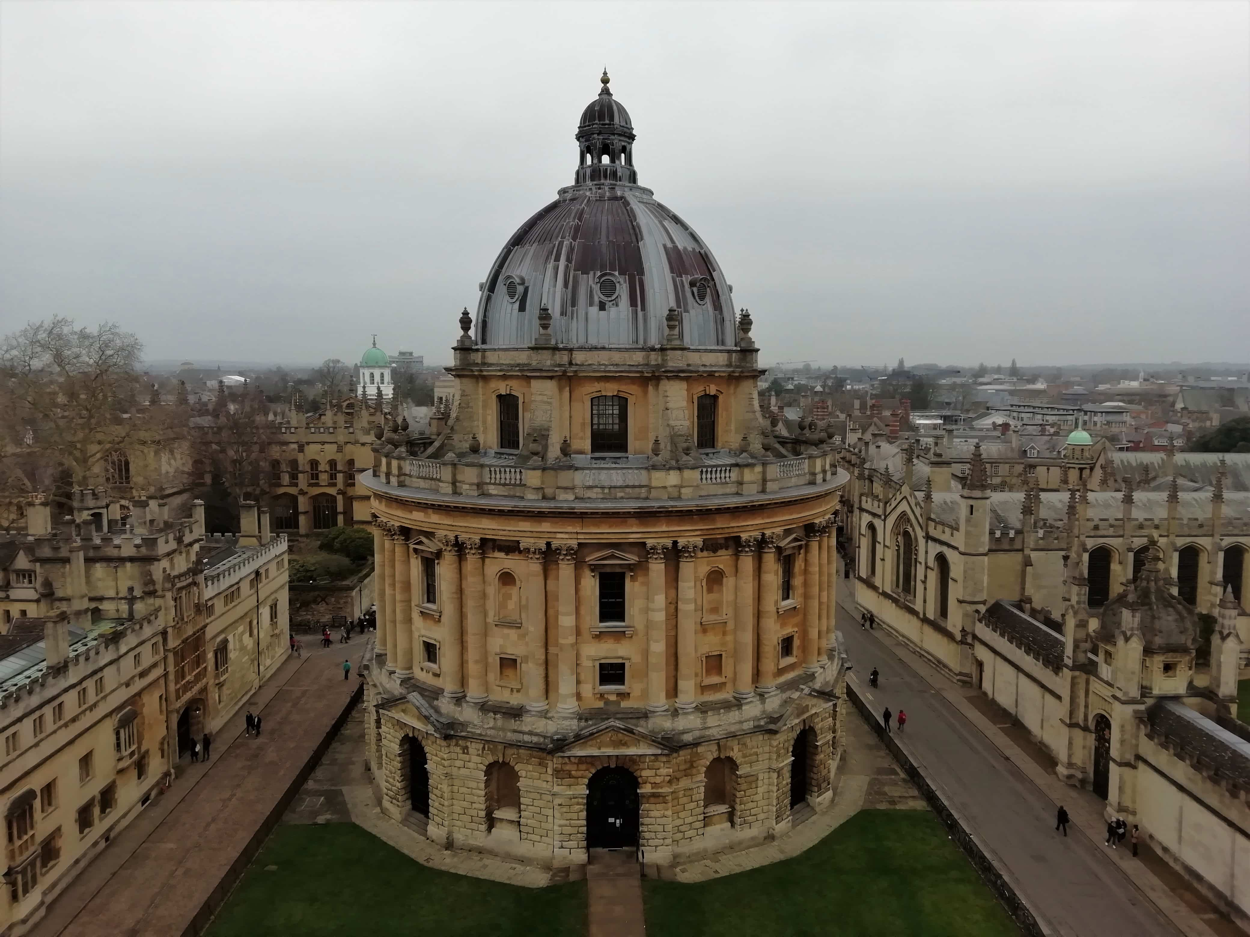 View of Radcliffe Camera from the University Church of St Mary the Virgin in Oxford
