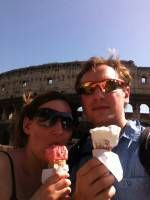 Ice Cream outside the Colosseum - Food in Rome