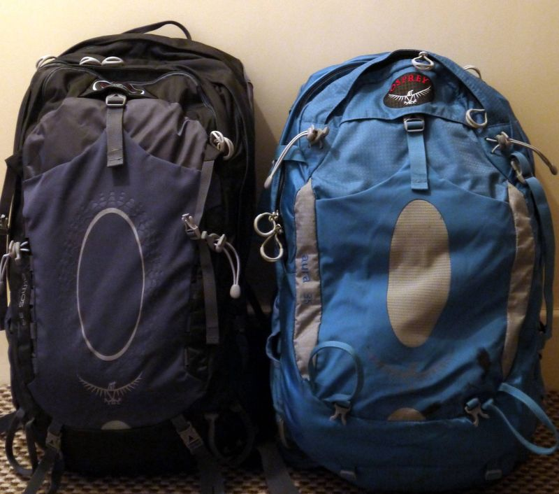 Our Osprey travel backpacks