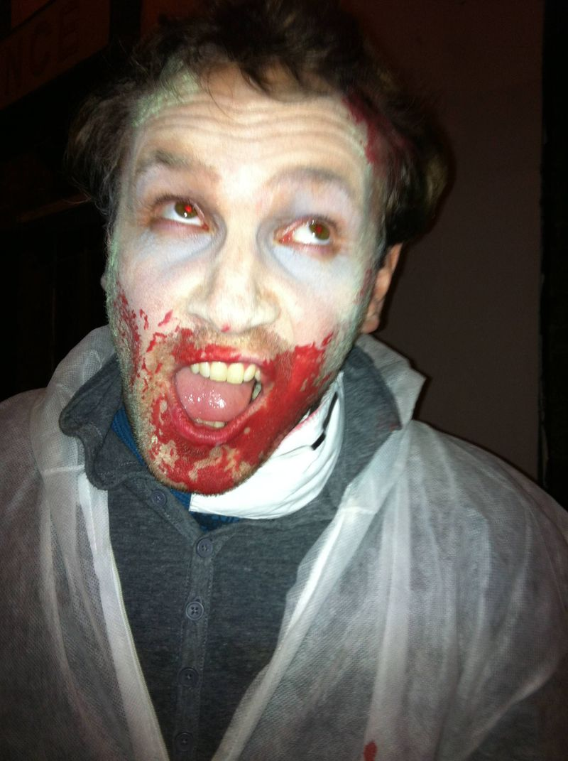 Andrew as a Zombie at 2.8 hours later