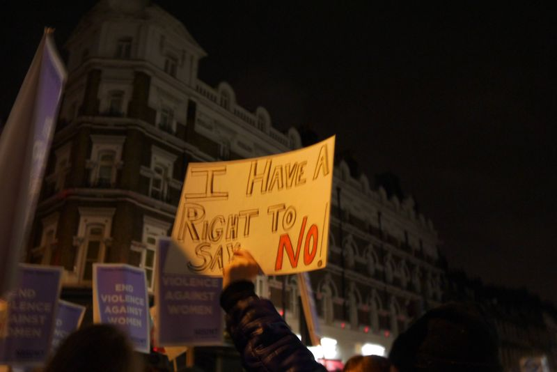 I have a right to say no placard