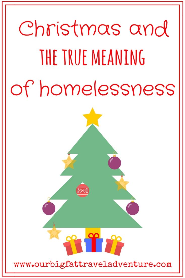 Christmas and the true meaning of homelessness, Pinterest Poster