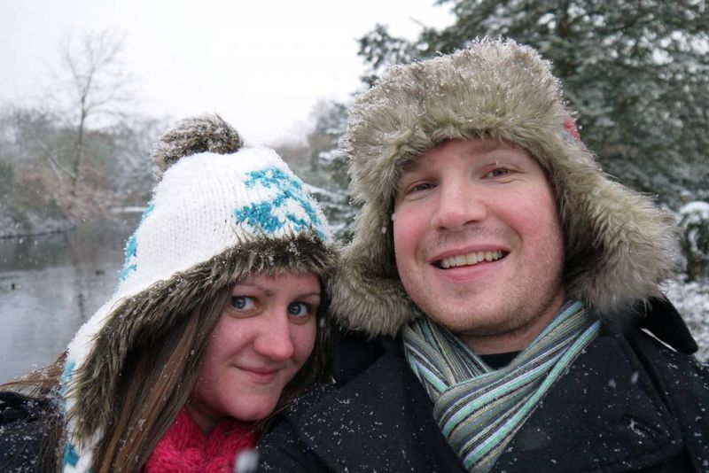 Amy & Andrew in the Snow