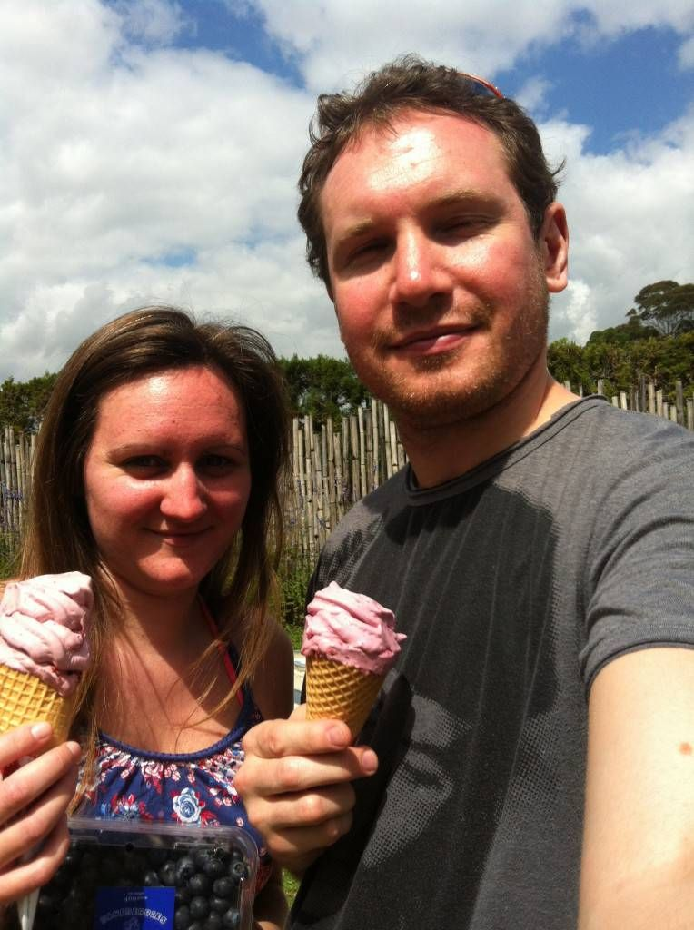 Ice Cream From the Blueberry Orchard, New Zealand