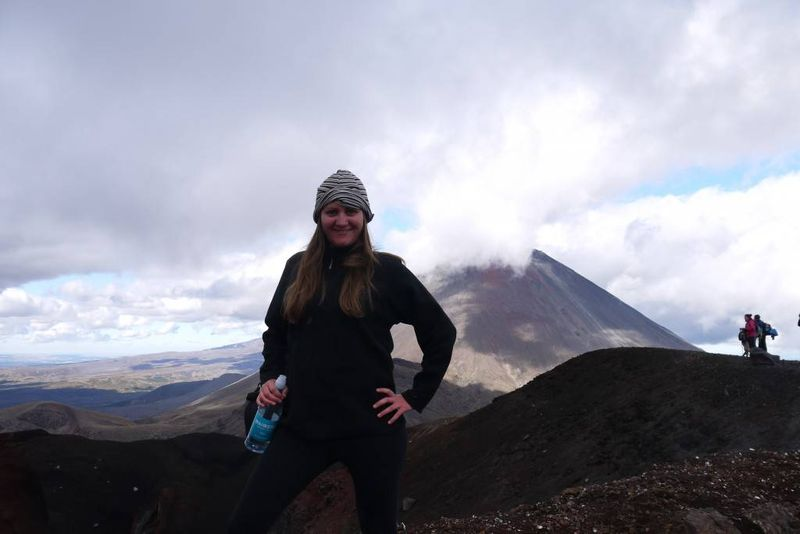 Amy on Mount Tongariro, New Zealand