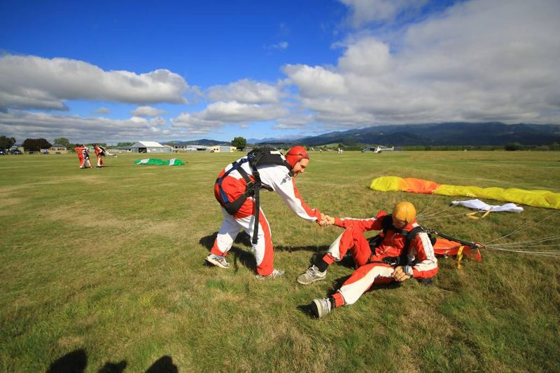 Andrew After his Skydive