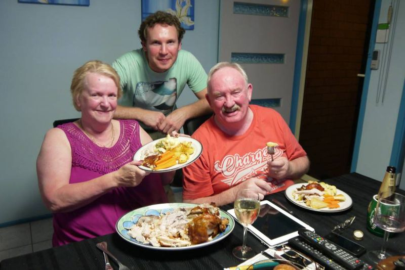 We cooked a great roast for Janet & Graham
