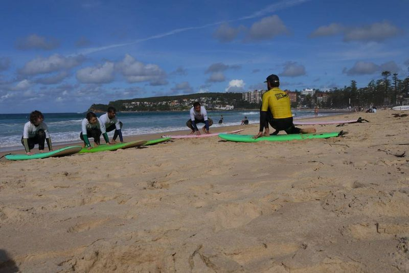Surfers on Manly Beach, Sydney