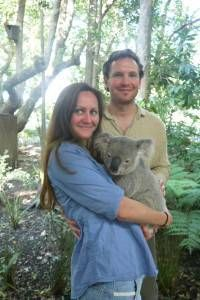 Holding a Koala at Lone Pine Koala Sanctuary
