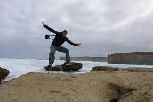 Jumping on the Great Ocean Road