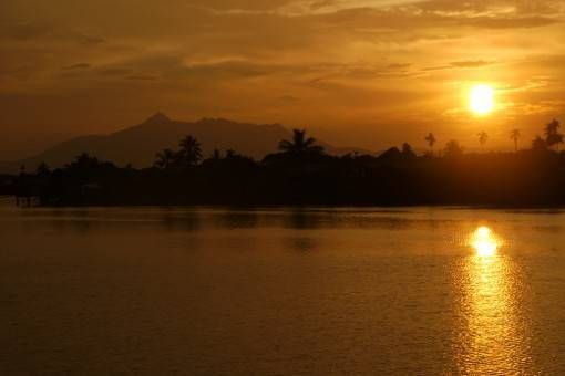 Sunset in Malaysian Borneo