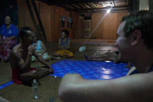 Drinking Fire Whisky in the Iban Longhouse, Borneo