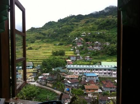 View from our Lodge in Banaue