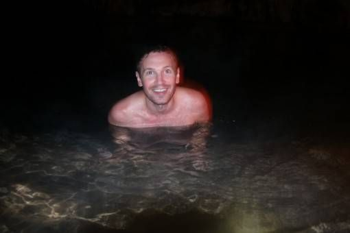 Andrew in an Underground River