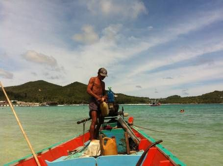 Boat to Bottle Beach, Koh Phangan