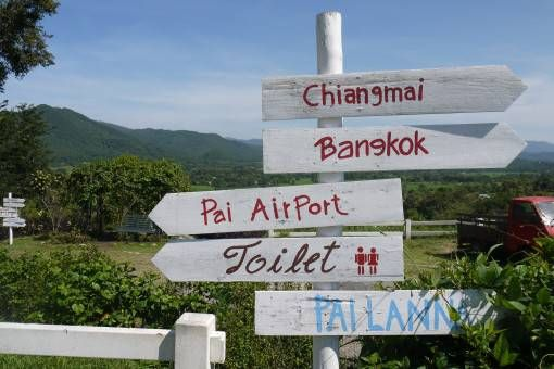 Travel Sign in Thailand